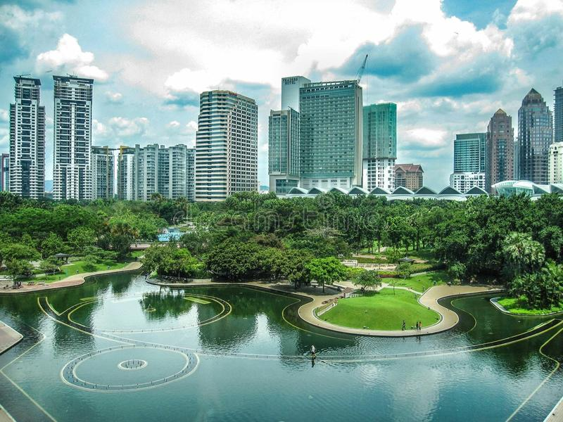 Citysacape Kuala Lumpur, Malezja obrazy stock