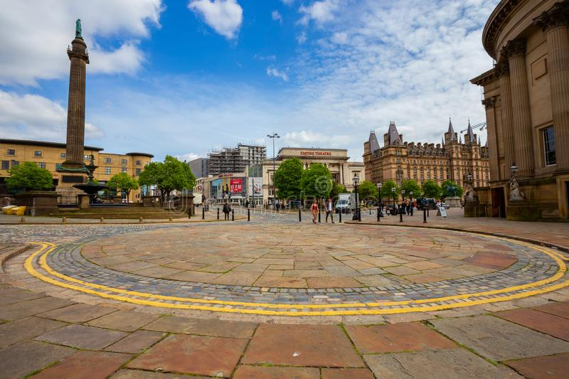 Citysacpe and architecture surround Liverpool Lime Street. Liverpool, UK - May 16 2018: Citysacpe and architecture surround Liverpool Lime Street and William royalty free stock images