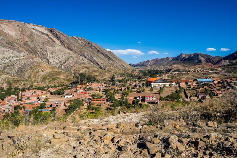 Citysacpe of Toro Toro in Bolivia. The Andes Range near from the Canyon stock photos