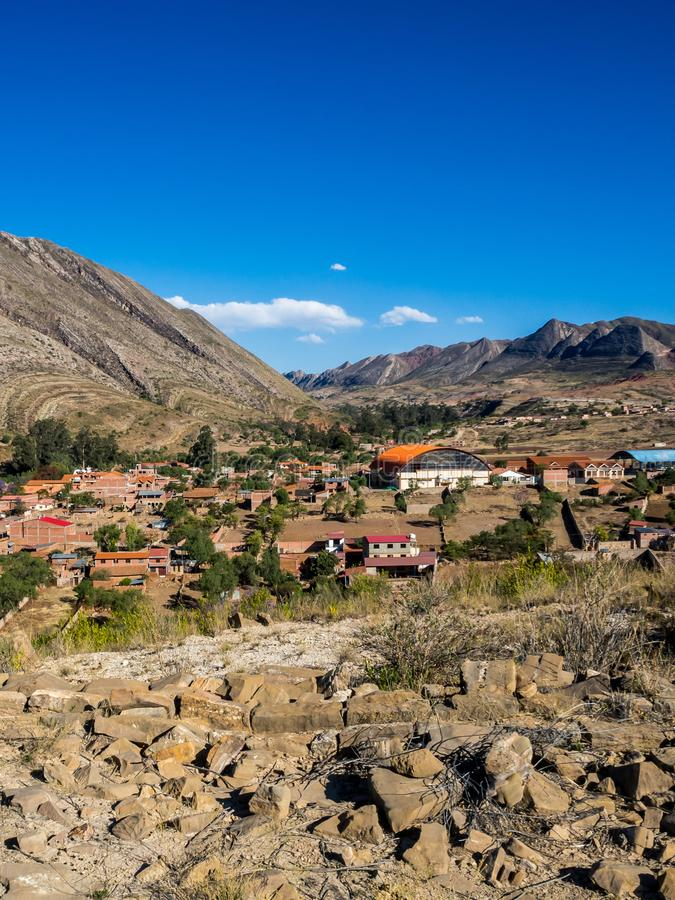 Citysacpe of Toro Toro in Bolivia. The Andes Range near from the Canyon stock images