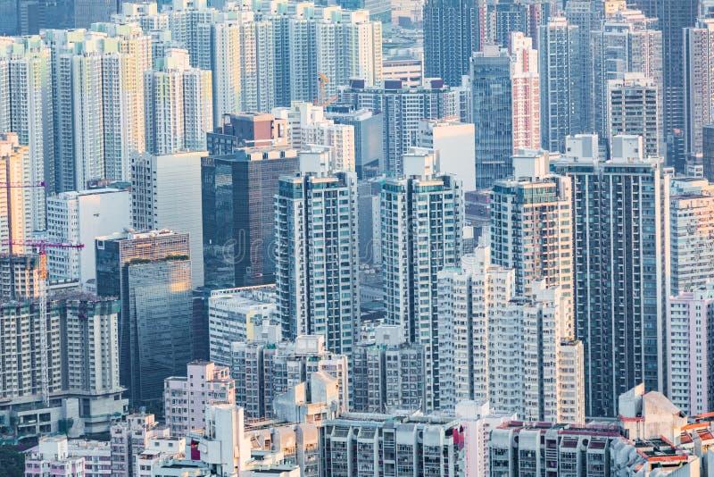 Cityscape центра города, Коулун, Гонконг стоковые изображения