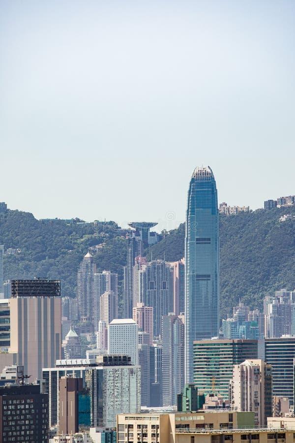 Cityscape центра города, Коулун, Гонконг стоковое изображение rf