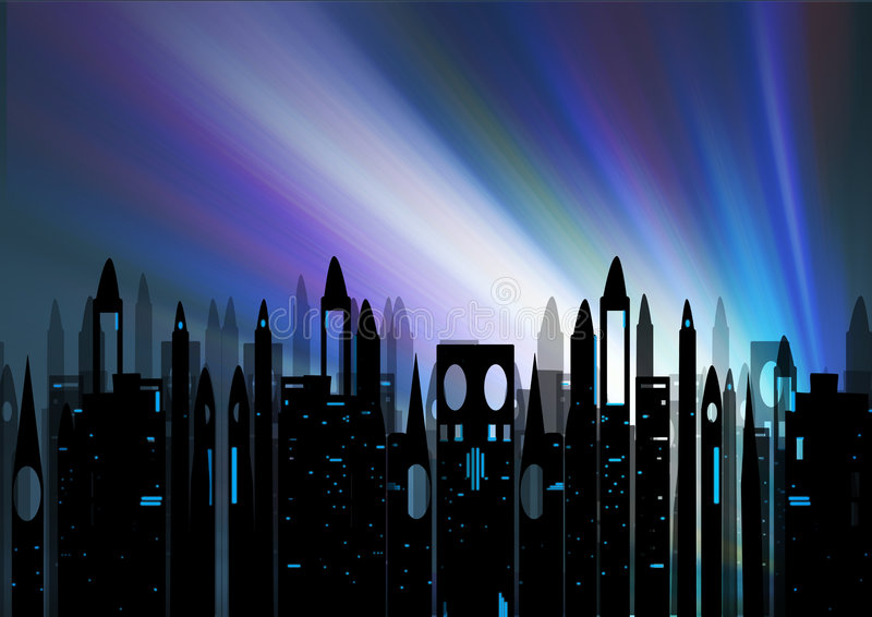 Cityscape. Silhouette of a cityscape royalty free illustration