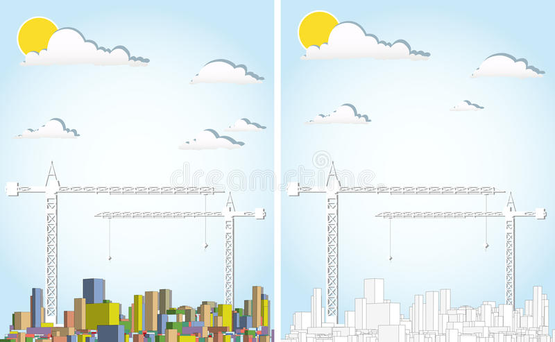 Download Cityscape stock vector. Image of real, background, industry - 25371388