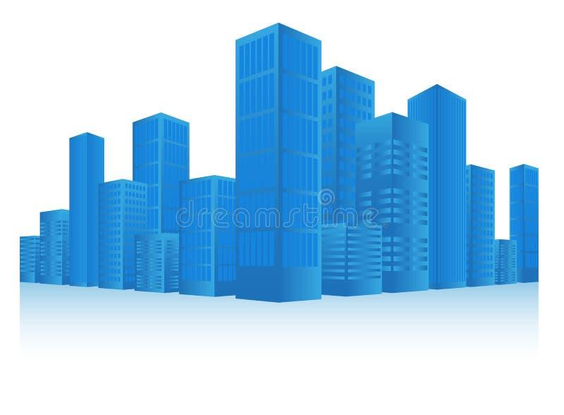 Cityscape. Vector Illustration of Blue Cityscape Background vector illustration