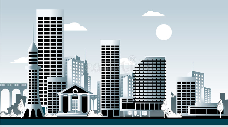 cityscape stock illustrationer