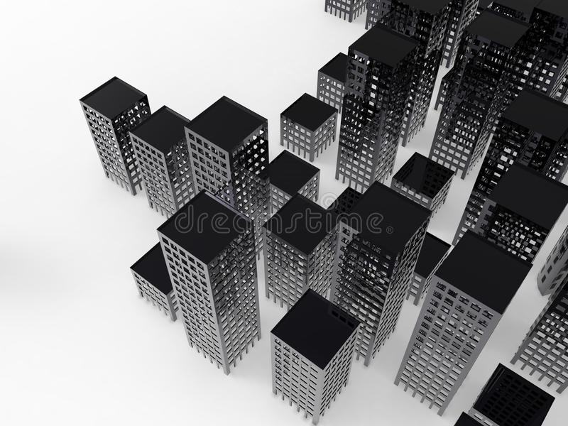 Cityscape. On a white background royalty free illustration
