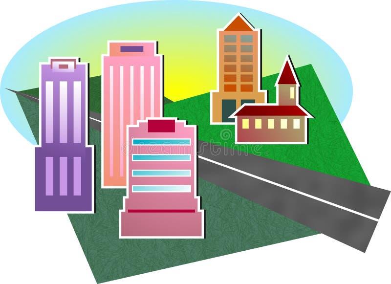 Download Cityscape stock illustratie. Illustratie bestaande uit toren - 41705