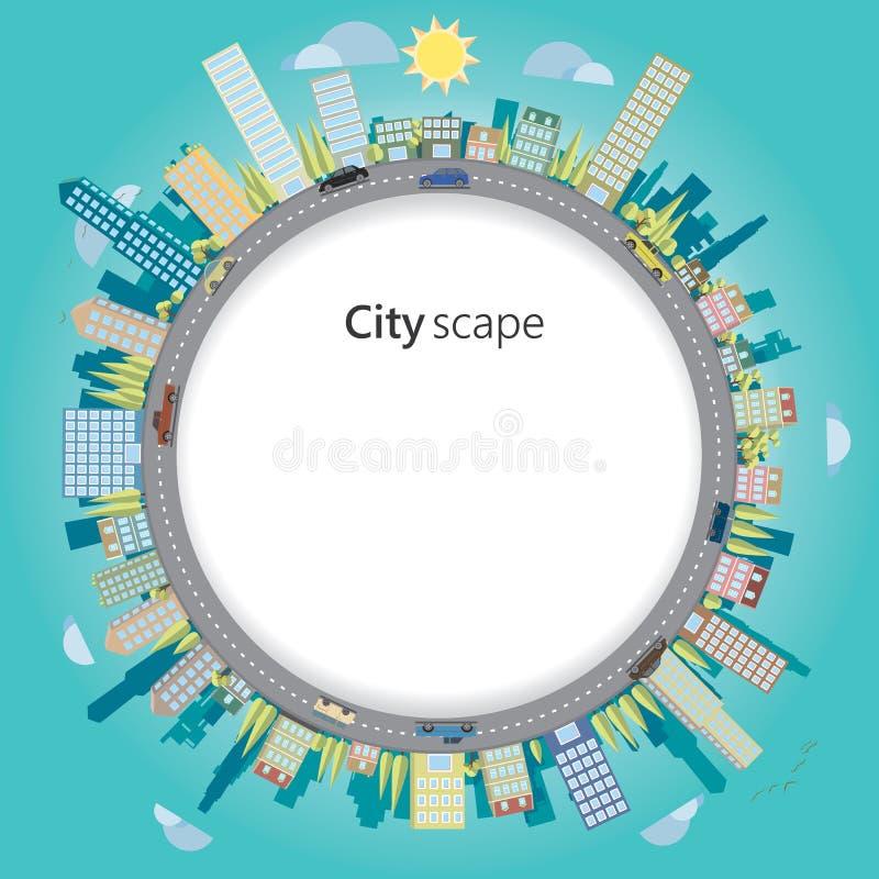 cityscape royaltyfri illustrationer