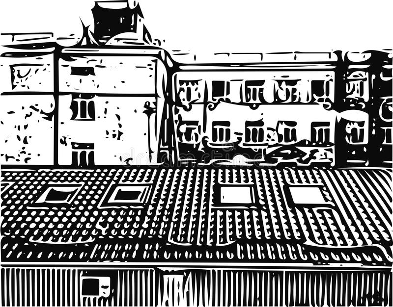 cityscape vektor illustrationer