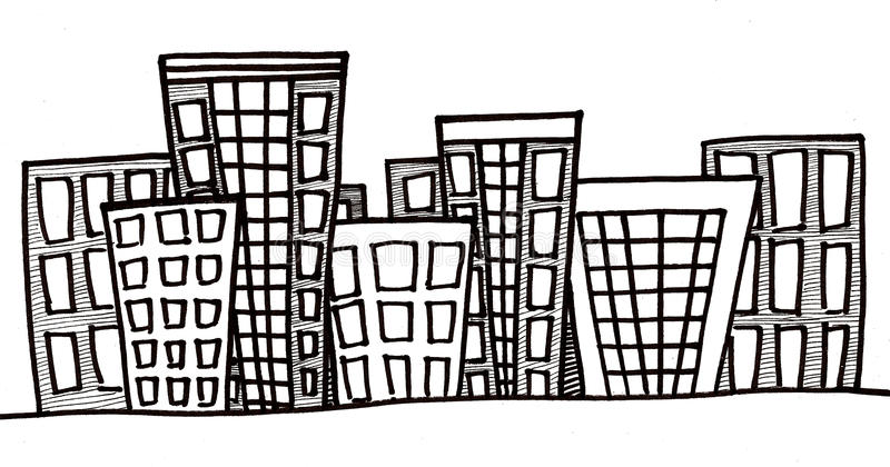 Cityscape vector illustratie
