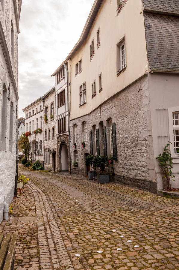 Cityscape Aachen, Gemany. View In The Streets Of Aachen, Germany royalty free stock images