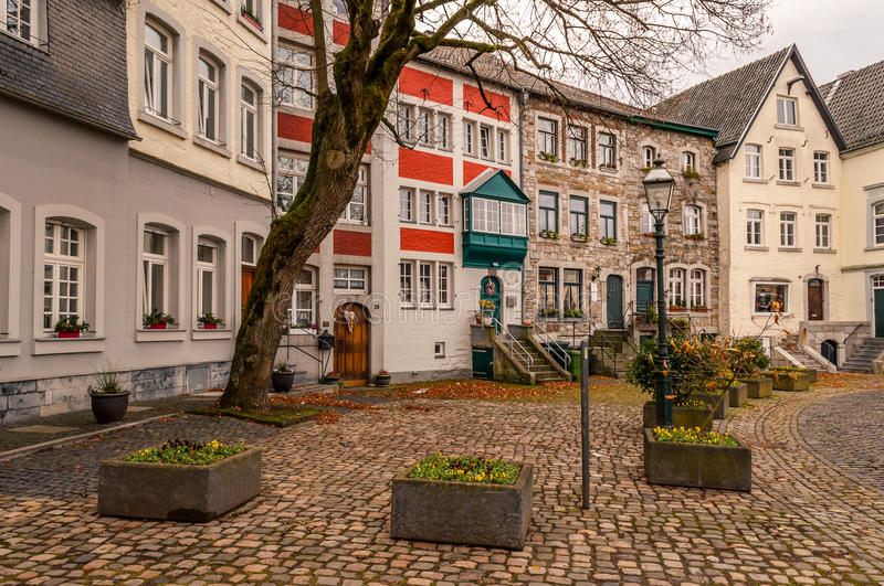 Cityscape Aachen, Gemany. View In The Streets Of Aachen, Germany stock photos