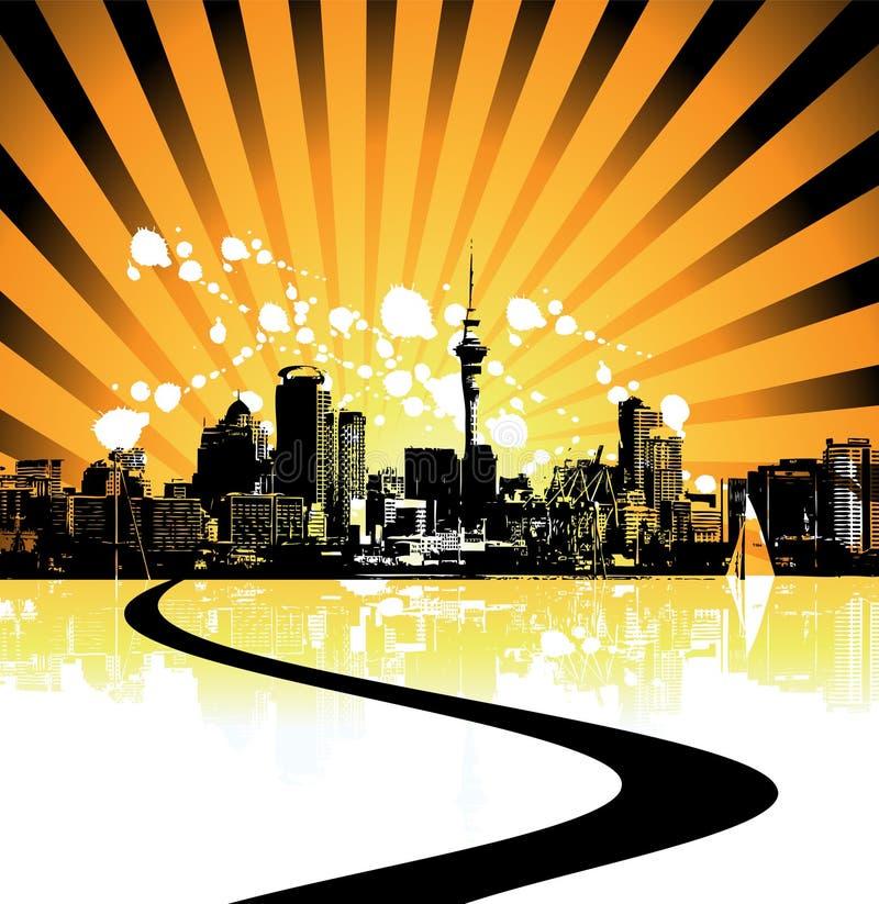 Cityscape achtergrond, stedelijk art. royalty-vrije illustratie