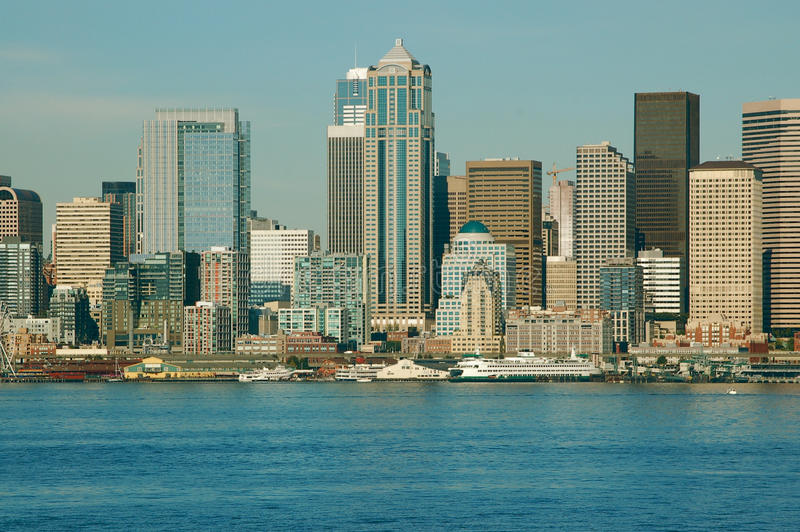 Cityscape Across the Water royalty free stock images