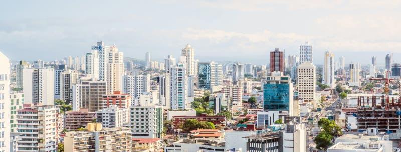 Cityscape aerial, skyline of downtown Panama City - royalty free stock photos