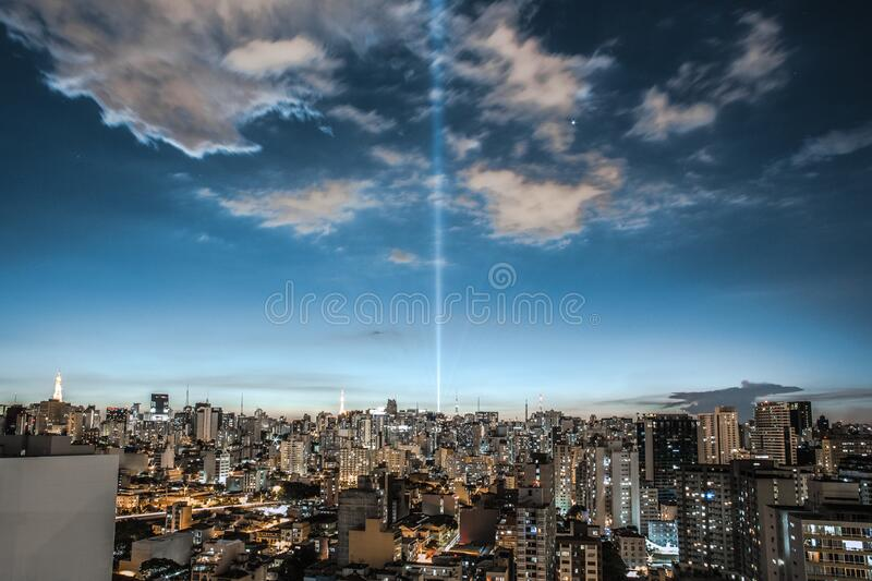 Cityscape Against Cloudy Sky royalty free stock photos