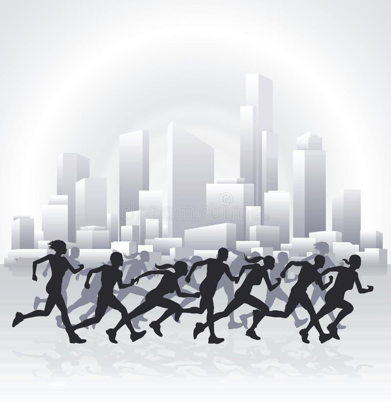 Cityscape agenten vector illustratie