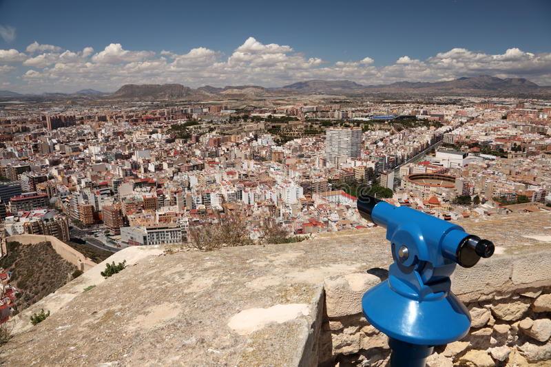 Cityscape of Alicante, Spain royalty free stock photo