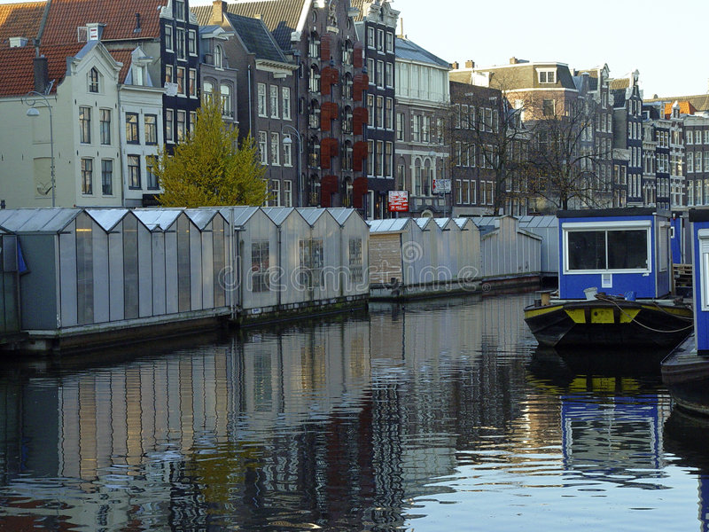 Download Cityscape Of Amsterdam stock image. Image of riverside - 682961
