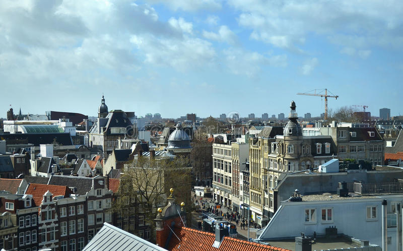 Cityscape of Amsterdam Holland royalty free stock photography