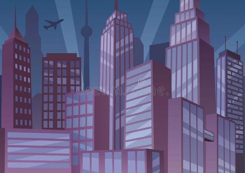 Cityscape Art Deco stock illustratie