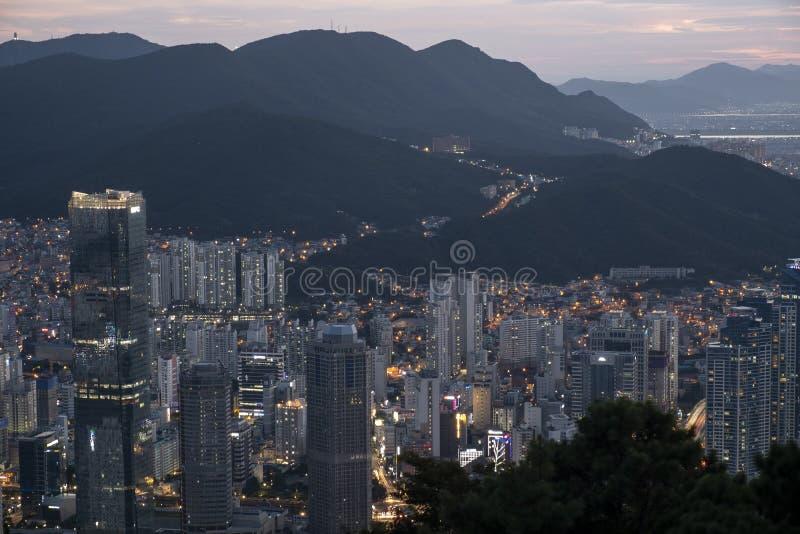 Cityscape av Busan royaltyfri foto