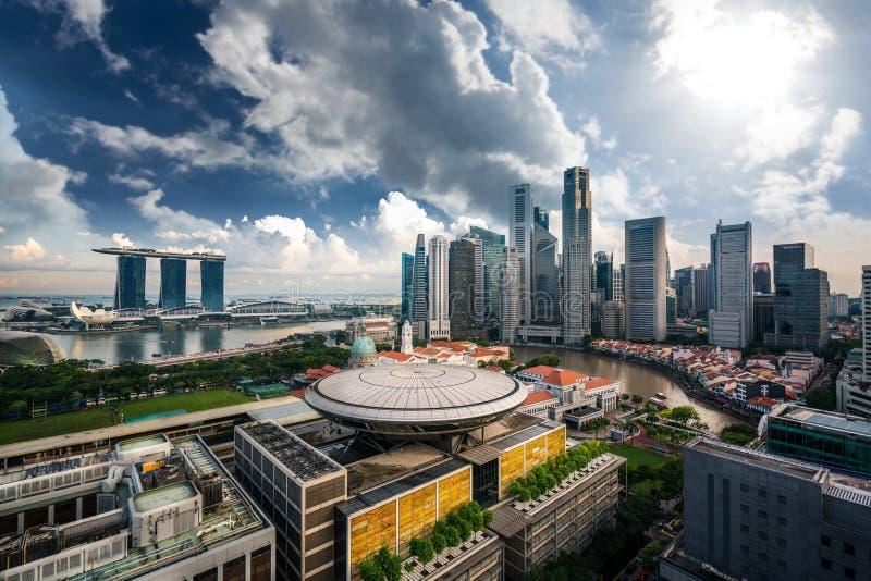 Cityscape av den Singapore staden royaltyfria foton