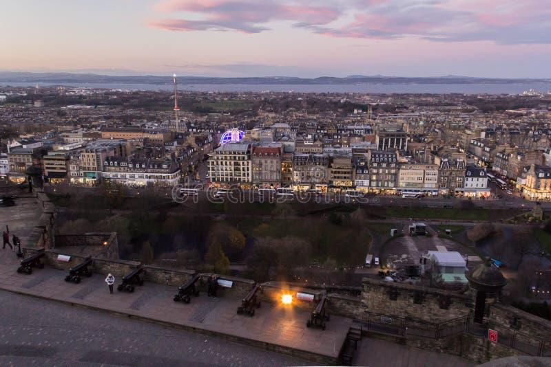 Cityscape av Edinburgh arkivbilder