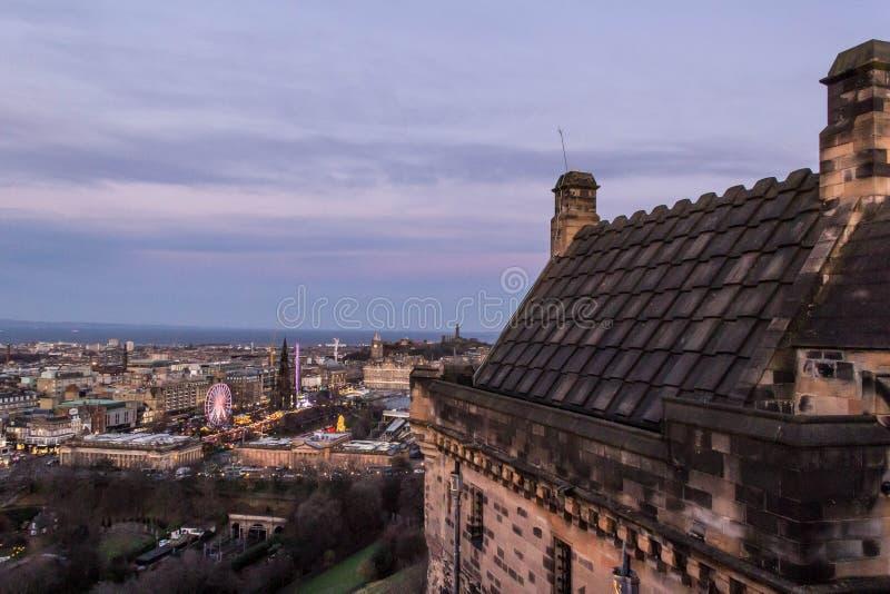 Cityscape av Edinburgh royaltyfria foton