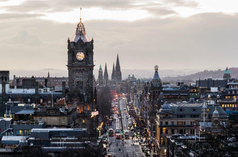 Cityscape av Edinburgh royaltyfri fotografi
