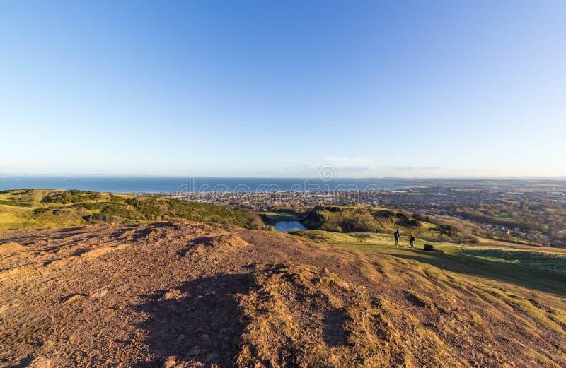 Cityscape av Edinburgh arkivfoton