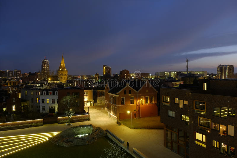 Cityscape av enschede Nederländerna royaltyfria foton