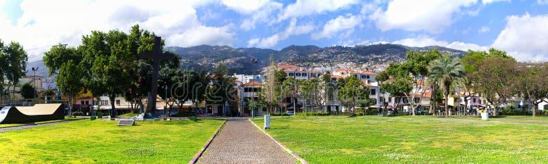 Cityscape av Funchal, madeiraö, Portugal fotografering för bildbyråer