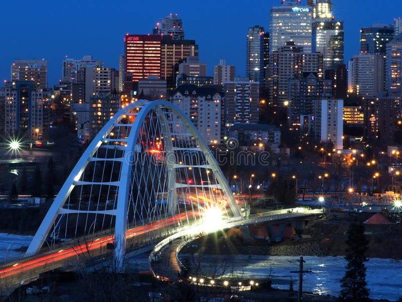 Cityscape av i stadens centrum Edmonton Alberta Canada royaltyfri fotografi