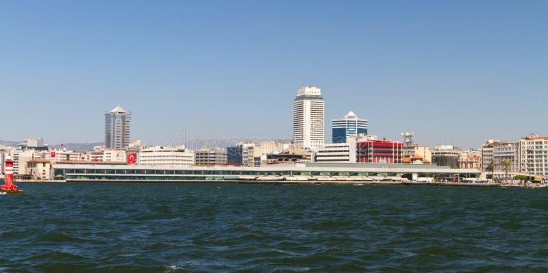 Cityscape av Izmir, Turkiet