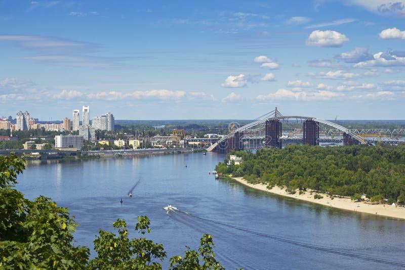 Cityscape av Kiev royaltyfri foto