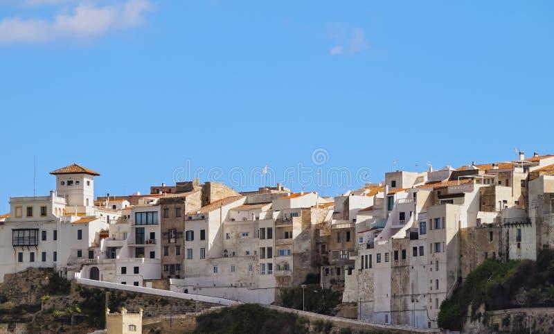 Cityscape av Mahon på Minorca royaltyfri bild