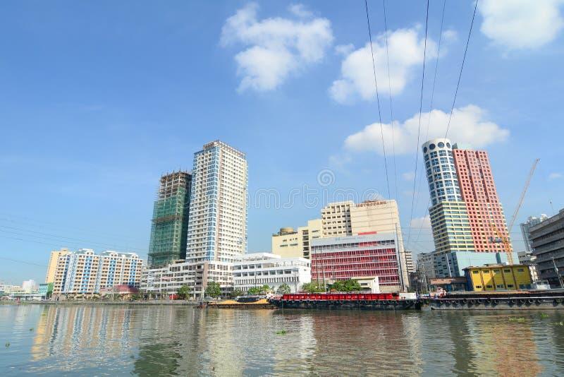 Cityscape av Manila, Filippinerna arkivfoto