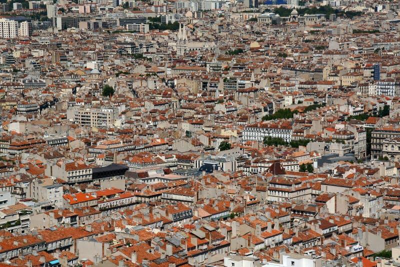 Cityscape av Marceille, Frankrike arkivfoto