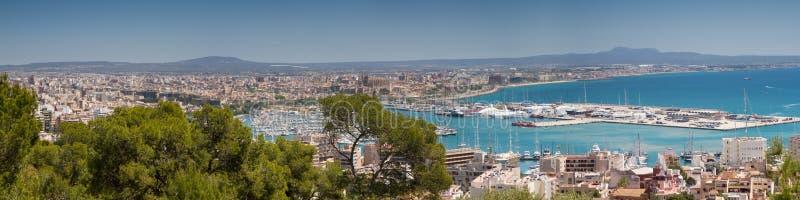 Cityscape av Palma royaltyfri bild
