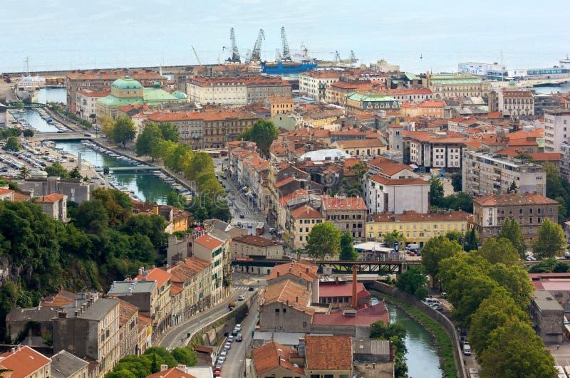 Cityscape av Rijeka royaltyfria bilder