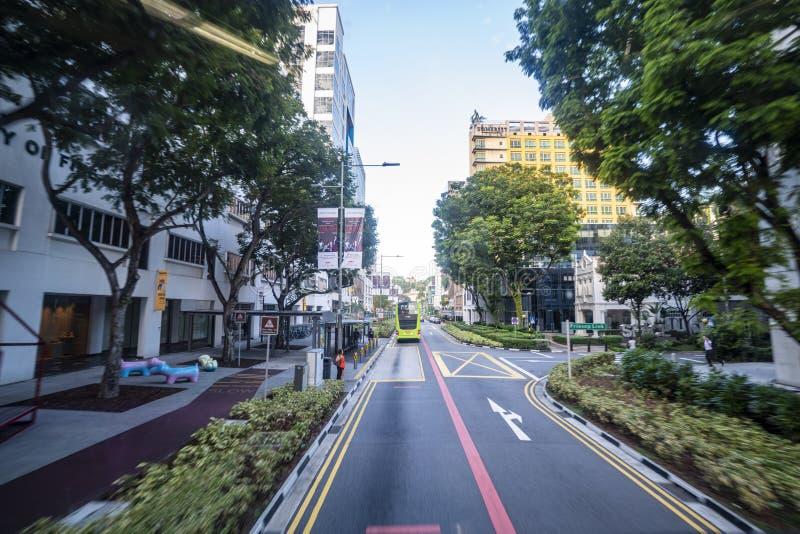 Cityscape av Singapore på dagen arkivbilder