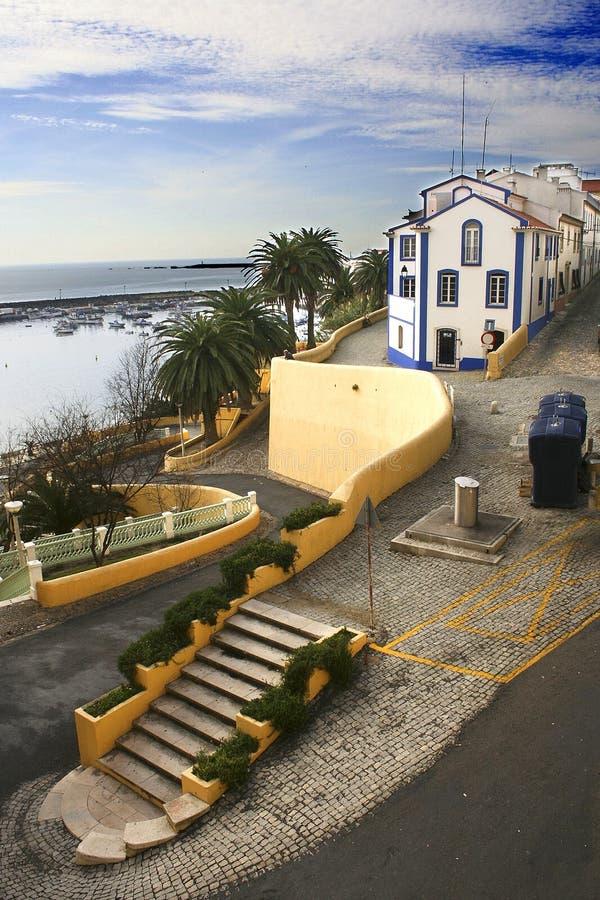 Cityscape av sinus, Portugal royaltyfria foton