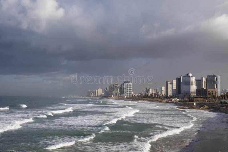 Cityscape av Tel Aviv royaltyfri foto