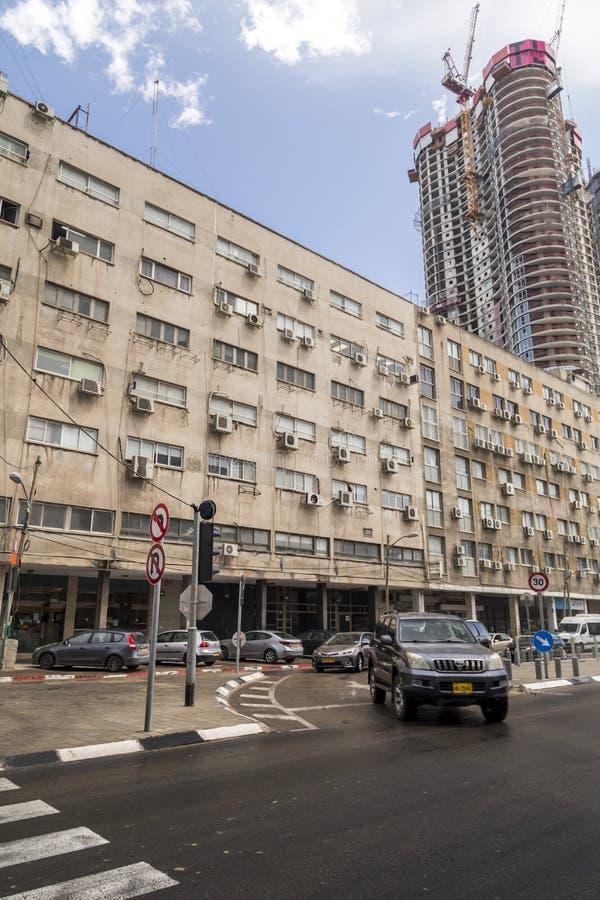 Cityscape av Tel Aviv, Israel arkivbild