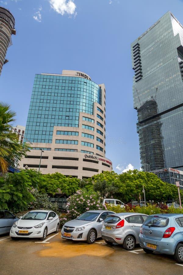 Cityscape av Tel Aviv, Israel arkivfoton