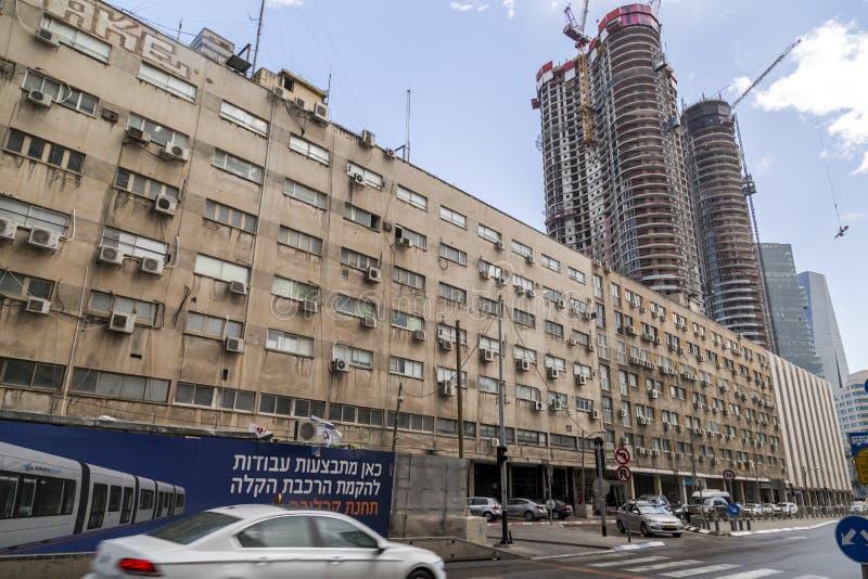 Cityscape av Tel Aviv, Israel royaltyfria bilder