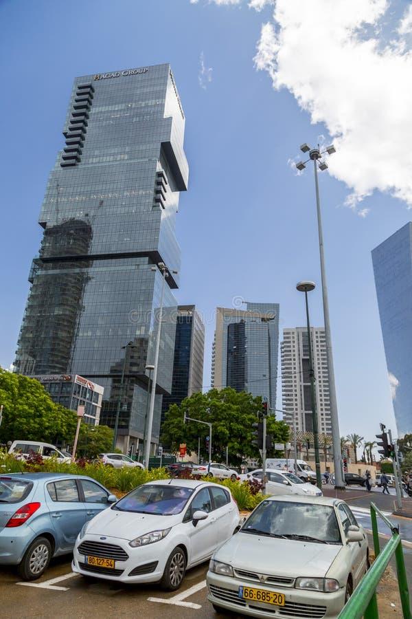 Cityscape av Tel Aviv, Israel royaltyfri foto
