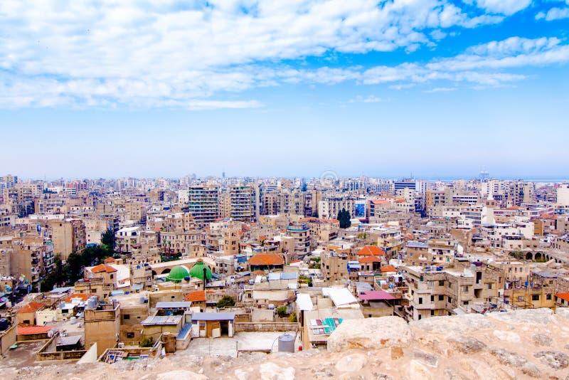 Cityscape av Tripoli i Libanon arkivbild